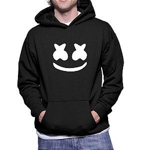 Moletom Masculino Marshmello Dj Electro Canguru Preto -  Moletons Personalizados Blusa/ Casacos Baratos/ Blusão/ Jaqueta Canguru