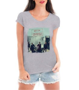 Camiseta Feminina Bon Jovi Show Tour Brasil This House is Not For Sale Cinza - Personalizadas/ Customizadas/ Estampadas/ Camiseteria/ Estamparia/ Estampar/ Personalizar/ Customizar/ Criar/ Camisa Blusas Baratas Modelos Legais Loja Online