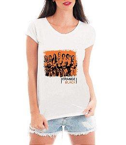 Camiseta Feminina Orange Black - Personalizadas/ Customizadas/ Estampadas/ Camiseteria/ Esta - Personalizadas/ Customizadas/ Estampadas/ Camiseteria/ Estamparia/ Estampar/ Personalizar/ Customizar/ Criar/ Camisa Blusas Baratas Modelos Legais Loja Online