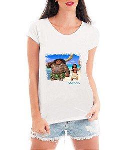 T-shirt Feminina Moana Filme - Personalizadas/ Customizadas/ Estampadas/ Camiseteria/ Estamparia/ Estampar/ Personalizar/ Customizar/ Criar/ Camisa Blusas Baratas Modelos Legais Loja Online