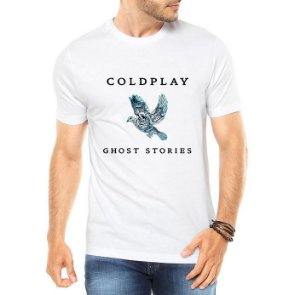 Camiseta Coldplay Ghost Stories Branca - Personalizadas/ Customizadas/ Estampadas/ Camiseteria/ Estamparia/ Estampar/ Personalizar/ Customizar/ Criar/ Camisa Blusas Baratas Modelos Legais Loja Online