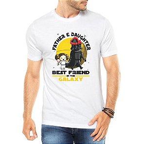 Camiseta Pai e Filha Father and Daughter Best Friend Galaxy Star Wars Darth Vader Dia Dos Pais - Personalizadas Customizadas Estampadas Camiseteria Estamparia Estampar Personalizar Customizar Criar Camisa Blusas Baratas Modelos Legais Loja Online