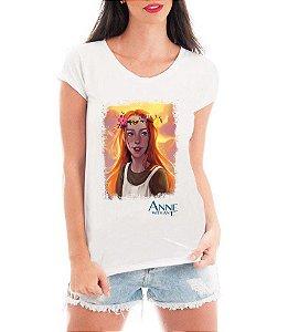 Camiseta Blusa Branca Anne With An E Série Seriado - Seriado Série/ Customizadas/ Estampadas/ Camiseteria/ Estamparia/ Estampar/ Personalizar/ Customizar/ Criar/ Camisa Blusas