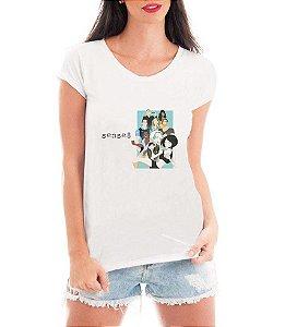 Camiseta Blusa Branca Sense 8 Série - Série Seriado/ Customizadas/ Estampadas/ Camiseteria/ Estamparia/ Estampar/ Personalizar/ Customizar/ Criar/ Camisa Blusas