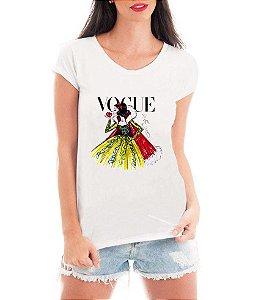 Camiseta Blusa T shirt Bata Feminina Vogue Branca De Neve - Seriado Série/ Customizadas/ Estampadas/ Camiseteria/ Estamparia/ Estampar/ Personalizar/ Customizar/ Criar/ Camisa Blusas