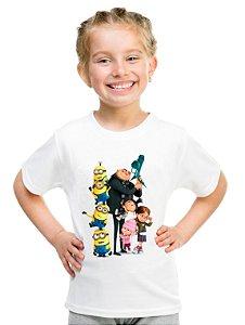 Camiseta Infantil Menina Minion Meu Malvado Favorito - Personalizadas/ Customizadas/ Estampadas/ Camiseteria/ Estamparia/ Estampar/ Personalizar/ Customizar/ Criar/ Camisa Blusas Baratas Modelos Legais Loja Online