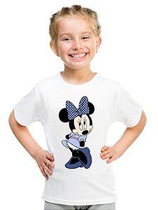 Camiseta Infantil Menina Minnie Mouse Desenho - Personalizadas/ Customizadas/ Estampadas/ Camiseteria/ Estamparia/ Estampar/ Personalizar/ Customizar/ Criar/ Camisa Blusas Baratas Modelos Legais Loja Online