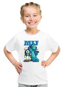 Camiseta Infantil Menina Monstros S.A Desenho - Personalizadas/ Customizadas/ Estampadas/ Camiseteria/ Estamparia/ Estampar/ Personalizar/ Customizar/ Criar/ Camisa Blusas Baratas Modelos Legais Loja Online