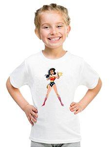 Camiseta Infantil Menina Mulher Maravilha - Personalizadas/ Customizadas/ Estampadas/ Camiseteria/ Estamparia/ Estampar/ Personalizar/ Customizar/ Criar/ Camisa Blusas Baratas Modelos Legais Loja Online
