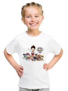Camiseta Infantil Menina Patrulha Canina Desenho - Personalizadas/ Customizadas/ Estampadas/ Camiseteria/ Estamparia/ Estampar/ Personalizar/ Customizar/ Criar/ Camisa Blusas Baratas Modelos Legais Loja Online