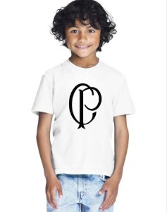 Camiseta Infantil Menino Corinthians Time - Personalizadas/ Customizadas/ Estampadas/ Camiseteria/ Estamparia/ Estampar/ Personalizar/ Customizar/ Criar/ Camisa Blusas Baratas Modelos Legais Loja Online