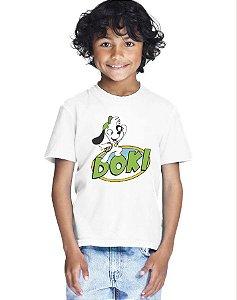 Camiseta Infantil Menino Doki Desenho - Personalizadas/ Customizadas/ Estampadas/ Camiseteria/ Estamparia/ Estampar/ Personalizar/ Customizar/ Criar/ Camisa Blusas Baratas Modelos Legais Loja Online
