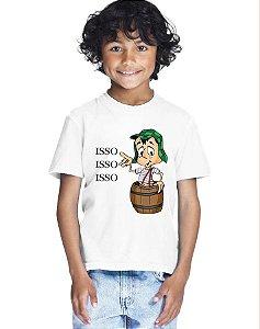 Camiseta Infantil Menino Isso Chaves - Personalizadas/ Customizadas/ Estampadas/ Camiseteria/ Estamparia/ Estampar/ Personalizar/ Customizar/ Criar/ Camisa Blusas Baratas Modelos Legais Loja Online