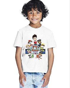 Camiseta Infantil Menino Patrulha Canina - Personalizadas/ Customizadas/ Estampadas/ Camiseteria/ Estamparia/ Estampar/ Personalizar/ Customizar/ Criar/ Camisa Blusas Baratas Modelos Legais Loja Online