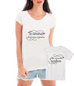 Camisetas Tal Mãe Tal Filha Te Amarei De Janeiro a Janeiro Música - Personalizadas/ Customizadas/ Estampadas/ Camiseteria/ Estamparia/ Estampar/ Personalizar/ Customizar/ Criar/ Camisa Blusas Baratas Modelos Legais Loja Online