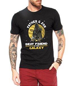 Camiseta Pai e Filho Best Friends Galaxy Star Wars Darth Vader Dia Dos Pais Preta - Personalizadas Customizadas Estampadas Camiseteria Estamparia Estampar Personalizar Customizar Criar Camisa Blusas Baratas Modelos Legais Loja Online