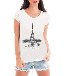Blusa T-shirt Paris Torre Eiffel Desenho - Personalizadas/ Customizadas/ Estampadas/ Camiseteria/ Estamparia/ Estampar/ Personalizar/ Customizar/ Criar/ Camisa Blusas Baratas Modelos Legais Loja Online