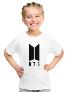 Camiseta Infantil Branca Feminina Menina Bts Bangtan Boys Integrantes - Personalizadas/ Customizadas/ Estampadas/ Camiseteria/ Estamparia/ Estampar/ Personalizar/ Customizar/ Criar/ Camisa Blusas Baratas Modelos Legais Loja Online