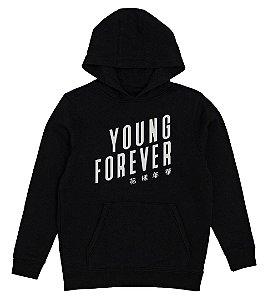 Moletom Infantil BTS Bangtan Boys Young Forever - Moletons Personalizados Blusa/ Casacos Baratos/ Blusão/ Jaqueta Canguru