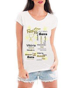 Blusa Feminina Branca Ano Novo  2018 Coisas Boas Réveillon Tshirt - Personalizadas/ Customizadas/ Estampadas/ Camiseteria/ Estamparia/ Estampar/ Personalizar/ Customizar/ Criar/ Camisa Blusas Baratas Modelos Legais Loja Online