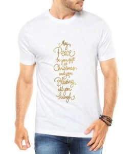 Camiseta Masculina Ano Novo 2018 Réveillon Natal Branca - Personalizadas/ Customizadas/ Estampadas/ Camiseteria/ Estamparia/ Estampar/ Personalizar/ Customizar/ Criar/ Camisa Blusas Baratas Modelos Legais Loja Online