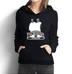 Moletom Feminino Supernatural Winchester Séries Seriados - Moletons Personalizados Blusa/ Casacos Baratos/ Blusão/ Jaqueta Canguru