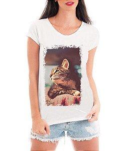 Camiseta Feminina Tshirt Blusa Feminina Amantes de Gatos - Personalizada/ Estampadas/ Camiseteria/ Estamparia/ Estampar/ Personalizar/ Customizar/ Criar/ Camisa T-shirts Blusas Baratas Modelos Legais Loja Online