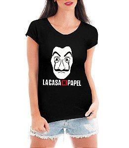 Blusa Tshirt  Feminina La Casa de Papel Série Seriado - Personalizadas/ Customizadas/ Estampadas/ Camiseteria/ Estamparia/ Estampar/ Personalizar/ Customizar/ Criar/ Camisa Blusas Baratas Modelos Legais Loja Online