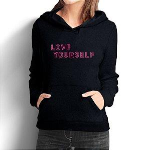 Moletom Bts Love Yourself Kpop Casaco Feminino - Moletons Personalizados Blusa/ Casacos Baratos/ Blusão/ Jaqueta Canguru
