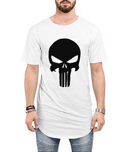 Camiseta Long Line Oversized Masculina O Justiceiro  Camisetas Barra Curvada - Camisetas Personalizadas/ Customizadas/ Estampadas/ Camiseteria/ Estamparia/ Estampar/ Personalizar/ Customizar/ Criar/ Camisa Barata  Loja Online