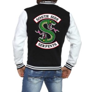 Jaqueta College Masculina Riverdale South Side Serpents Séries Seriados Serpentes do Sul - Jaquetas Colegial Americana Universitária Baseball Casacos Blusa Blusão Baratos Loja Online ​