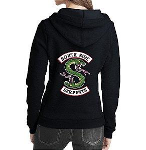 Blusa Moletom Feminino Riverdale South Side Serpents Séries Seriados - Moletons Personalizados Blusa/ Casacos Baratos/ Blusão/ Jaqueta Canguru/ Blusa de Frio