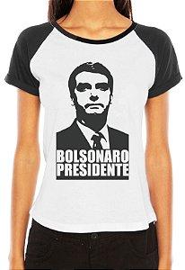 Camiseta Bolsonaro Presidente Blusa Feminina Raglan Jair 2018 - Customizadas/ Estampadas/ Camisetas - Personalizadas/ Customizadas/ Estampadas/ Camiseteria/ Estamparia/ Personalizar/ Customizar/ Criar/ Camisa Blusas Baratas Modelos Legais Loja Online