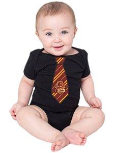 Body Bebê Harry Potter Uniforme Grifinória - Roupinhas Macacão Infantil Bodies Roupa Manga Curta Menino Menina Personalizados
