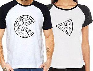 Camiseta Casal PIZZA Kit Namorados - Personalizadas/ Customizadas/ Estampadas/ Camiseteria/ Estamparia/ Estampar/ Personalizar/ Customizar/ Criar/ Camisa Blusas Baratas Modelos Legais Loja Online