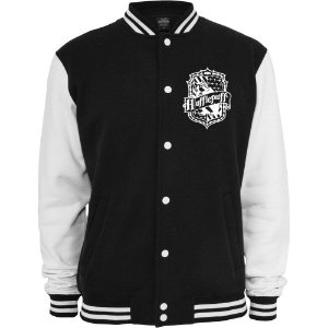 Jaquetas College Lufa-Lufa Harry Potter Casaco Moletom - Jaquetas Colegial Americana Universitária Baseball de Frio Preto e Branco Personalizadas Blusas/ Casacos/ Blusão Baratos