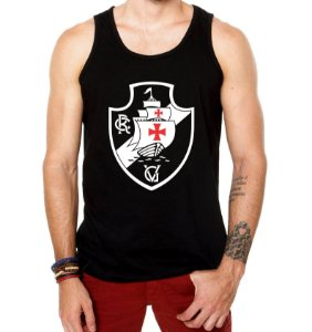 Camiseta Regata Vasco Escudo Time Torcedor Futebol Masculina