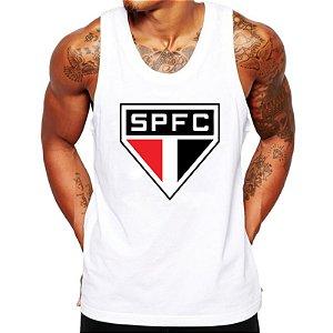 Camiseta Regata São Paulo SPFC Escudo Futebol Time Torcedor Retrô Masculina