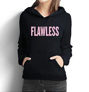 Moletom Feminino Beyoncé Flawless - Moletons Personalizados Blusa/ Casacos Baratos/ Blusão/ Jaqueta Canguru
