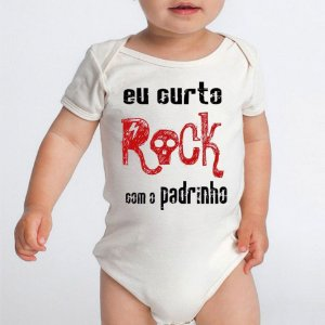 Body Bebê Padrinho Dindo Frases Engraçadas Rock - Roupinhas Macacão Infantil Bodies Roupa Manga Curta Menino Menina Personalizados