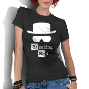 Camiseta Feminina Breaking Bad Heisemberg Séries Seriados - Personalizadas/ Customizadas/ Estampadas/ Camiseteria/ Estamparia/ Estampar/ Personalizar/ Customizar/ Criar/ Camisa Blusas Baratas Modelos Legais Loja Online