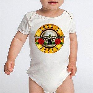 Body Bebê Bandas de Rock Guns'n Roses - Roupinhas Macacão Infantil Bodies Roupa Manga Curta Menino Menina Personalizados