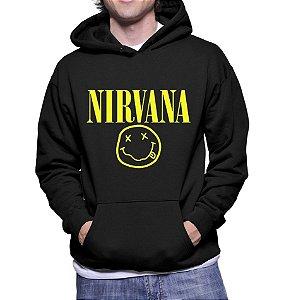 Moletom Masculino Bandas de Rock Nirvana - Moletons Personalizados Blusa/ Casacos Baratos/ Blusão/ Jaqueta Canguru