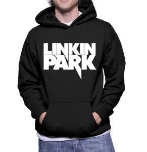 Moletom Masculino Linkin Park Bandas de Rock - Moletons Personalizados Blusa/ Casacos Baratos/ Blusão/ Jaqueta Canguru