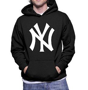 Moletom Masculino NFL New York Yankees - Moletons Personalizados Blusa/ Casacos Baratos/ Blusão/ Jaqueta Canguru