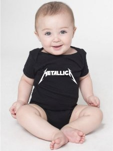 Body Bebê Bandas de Rock Metallica - Roupinhas Macacão Infantil Bodies Roupa Manga Curta Menino Menina Personalizados