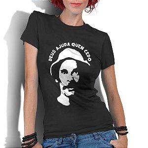 Camiseta Feminina Seu Madruga Chaves Seriados - Personalizadas/ Customizadas/ Estampadas/ Camiseteria/ Estamparia/ Estampar/ Personalizar/ Customizar/ Criar/ Camisa Blusas Baratas Modelos Legais Loja Online