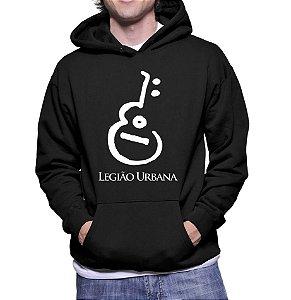 Moletom Masculino Legião Urbana - Moletons Personalizados Blusa/ Casacos Baratos/ Blusão/ Jaqueta Canguru