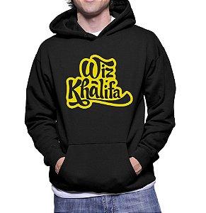 Moletom Masculino Wiz Khalifa Bandas De Rap - Moletons Personalizados Blusa/ Casacos Baratos/ Blusão/ Jaqueta Canguru