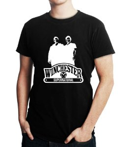 Camiseta Masculina Supernatural Winchester Séries Seriados - Personalizadas/ Customizadas/ Estampadas/ Camiseteria/ Estamparia/ Estampar/ Personalizar/ Customizar/ Criar/ Camisa Blusas Baratas Modelos Legais Loja Online